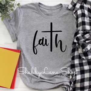 Faith Heather gray tee