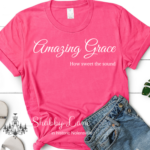 Amazing Grace how sweet the sound tee