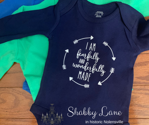 I am fearfully and wonderfully made Infant onesie