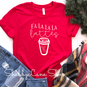 Falalala  latte - Red Short Sleeve