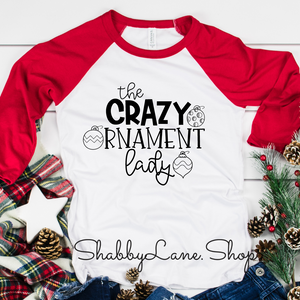 Crazy Ornament lady - red sleeves