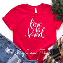 Load image into Gallery viewer, Love is kind - red T-shirt