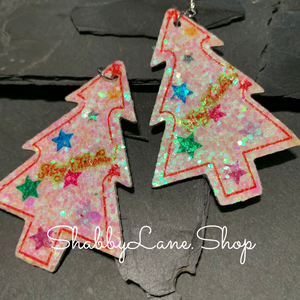 Holiday earrings glitter tree style 8