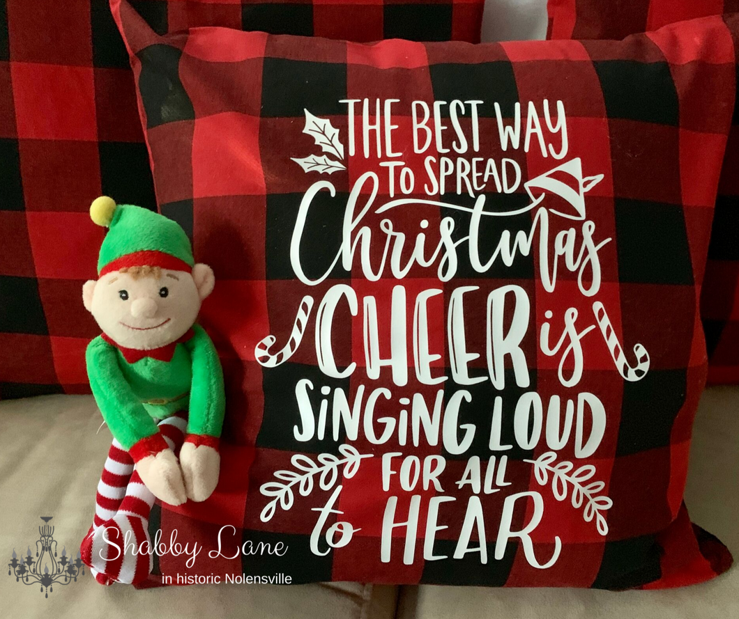 Spread Christmas Cheer pillow!