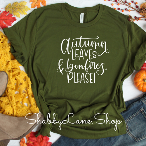 Autumn Leaves and Bonfires please! Olive