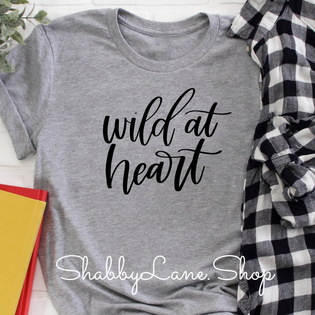 Wild at heart - Light gray t-shirt