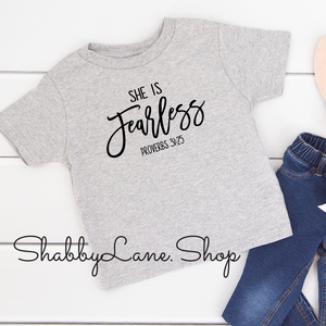 She is Fearless - toddler/kids - grey T-shirt