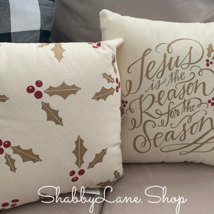 Jesus is the reason for the season - set of 2 pillows