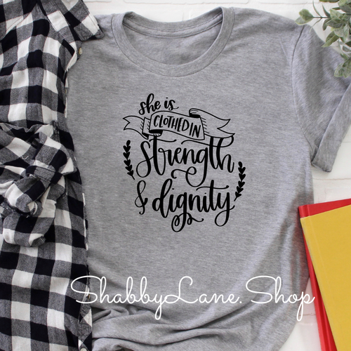 She is clothed in Dignity - Gray