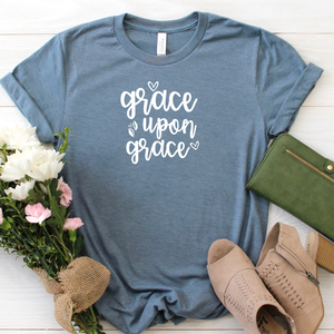 Grace upon Grace - slate blue