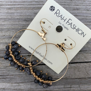 Beaded hoop earrings