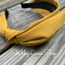 Load image into Gallery viewer, Beautiful bow headband - mustard