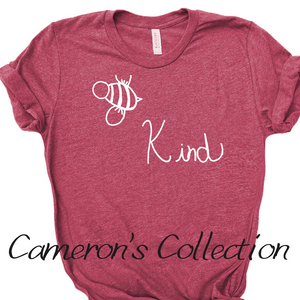 Bee Kind - Cameron Collection Heather Raspberry