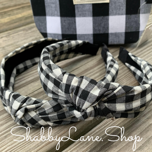 White Buffalo plaid headband