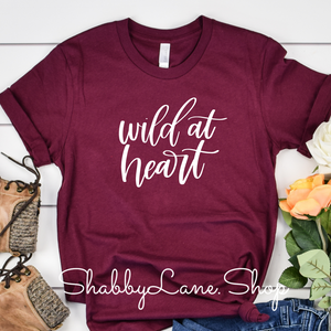 Wild at heart - maroon t-shirt