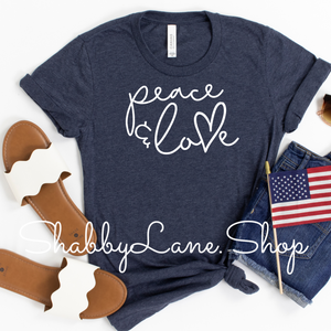 Peace and Love  Heather Navy