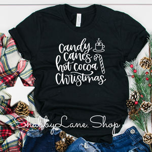 Candy Canes Hot Cocoa Christmas-  Black