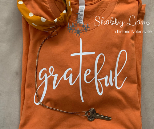 Grateful tee burnt orange