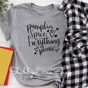 Pumpkin spice everything ! Gray