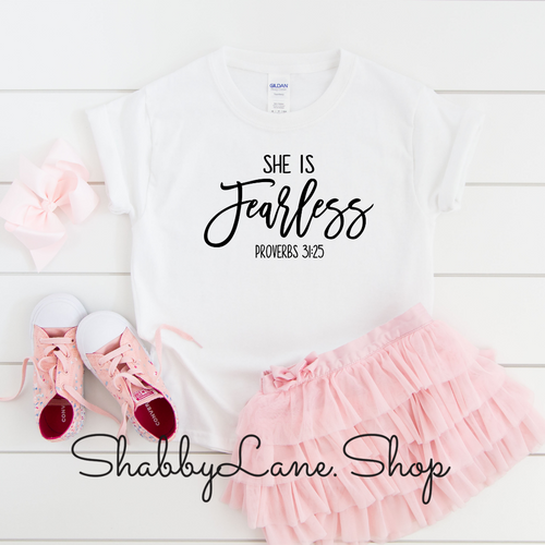 She is Fearless - toddler/kids - white T-shirt