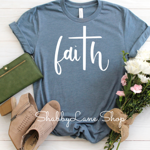 Faith Heather slate tee
