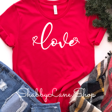 Load image into Gallery viewer, Love- red T-shirt