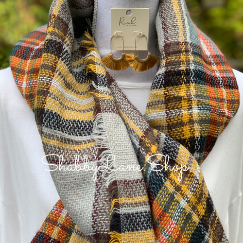 Beautiful blanket scarf - autumn breeze
