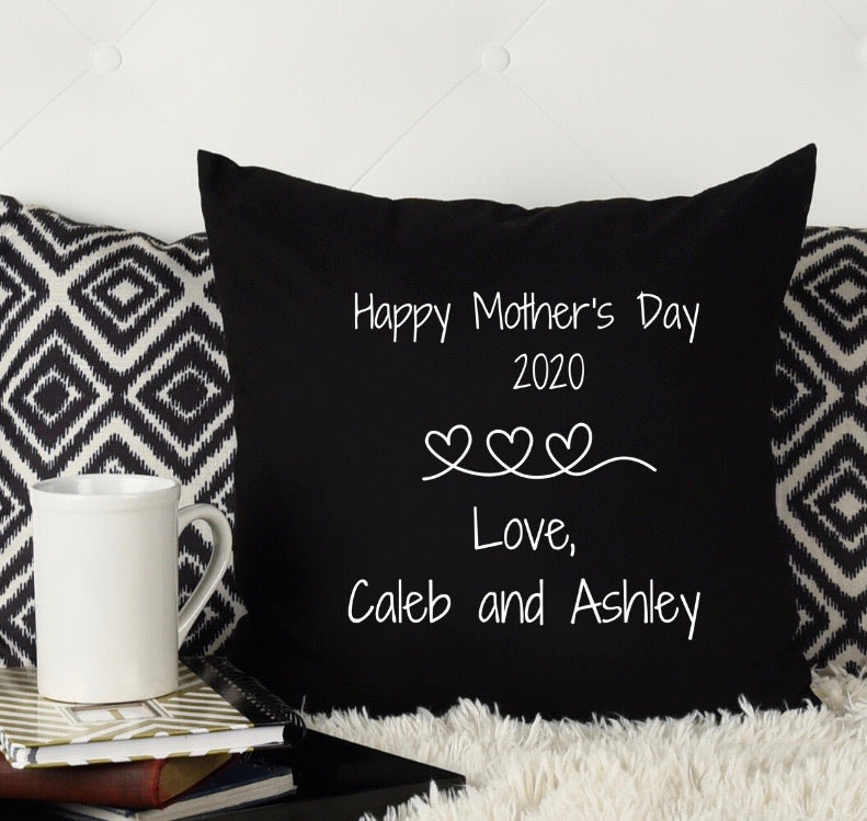 Mother's Day personalizes pillow - black pillow