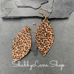 Leopard earrings - cork
