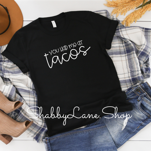 You had me at tacos - black