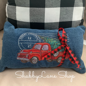 Red Truck Christmas pillow
