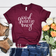 Good Vibes Only - maroon T-shirt