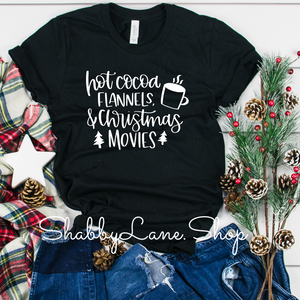 Hot cocoa flannels and Christmas movies- Black