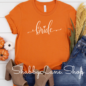 Bride - burnt orange tee