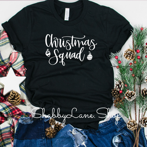 Christmas squad toddler/kids black shirt sleeve