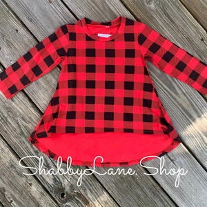 Buffalo plaid toddler Hi/lo tunic
