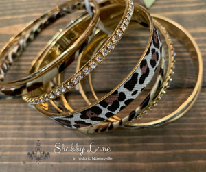 Leopard stackable bracelets