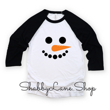 Load image into Gallery viewer, Snowman - black sleeves