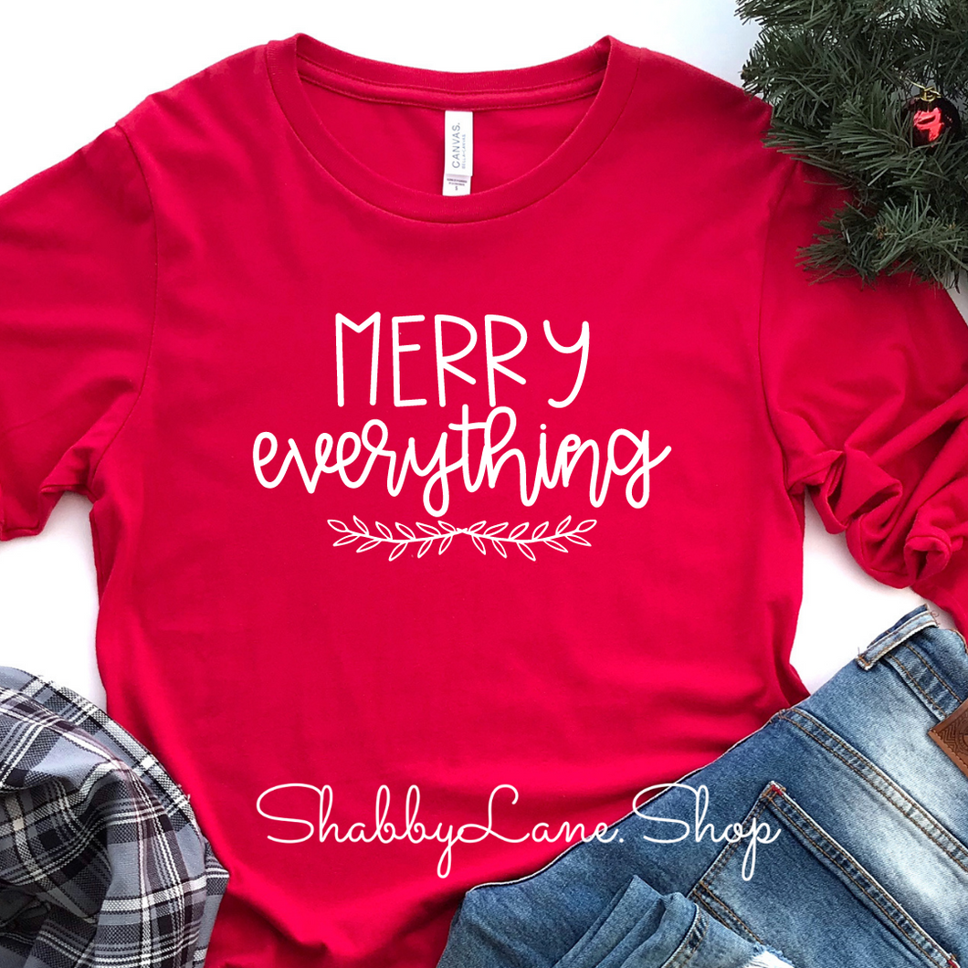 Merry everything - red long sleeve