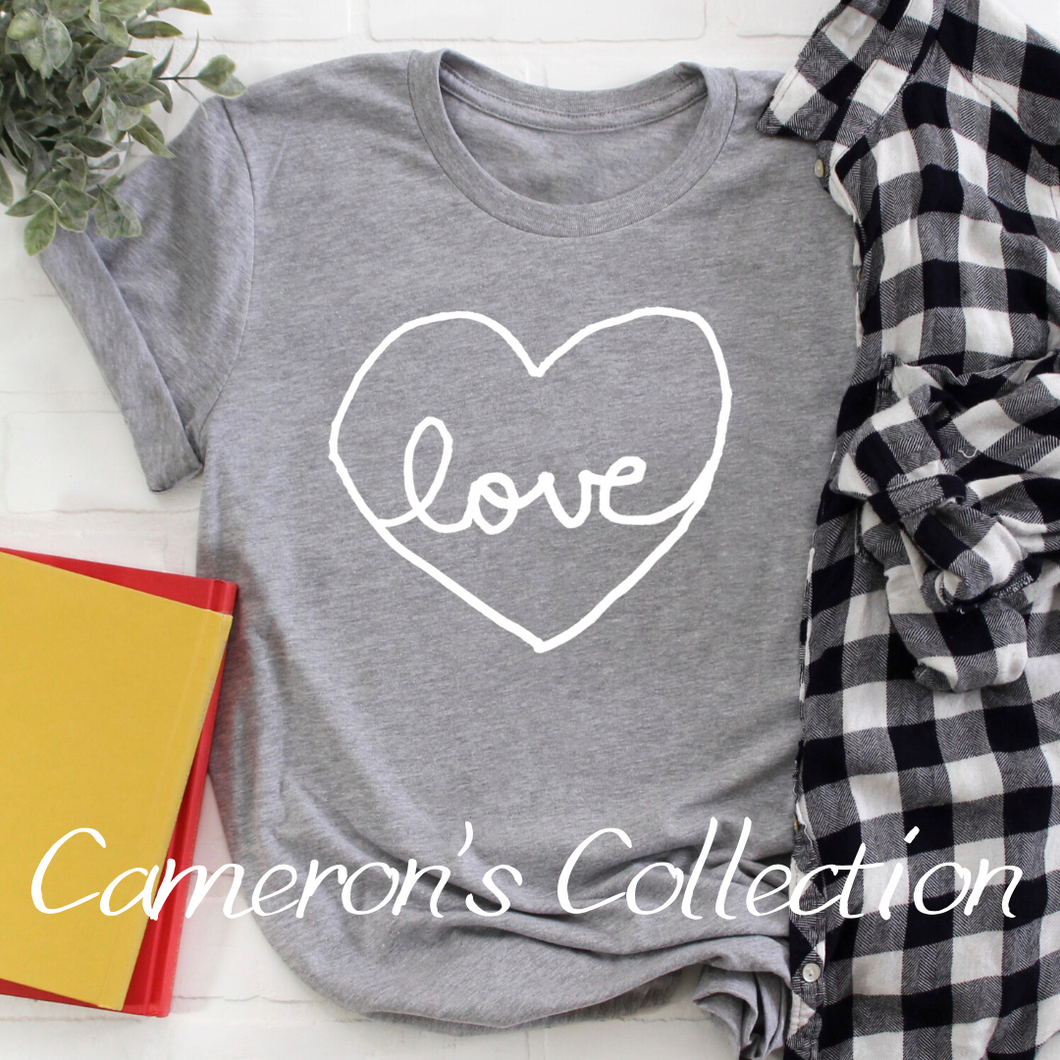 Love heart - Cameron Collection Heather Gray