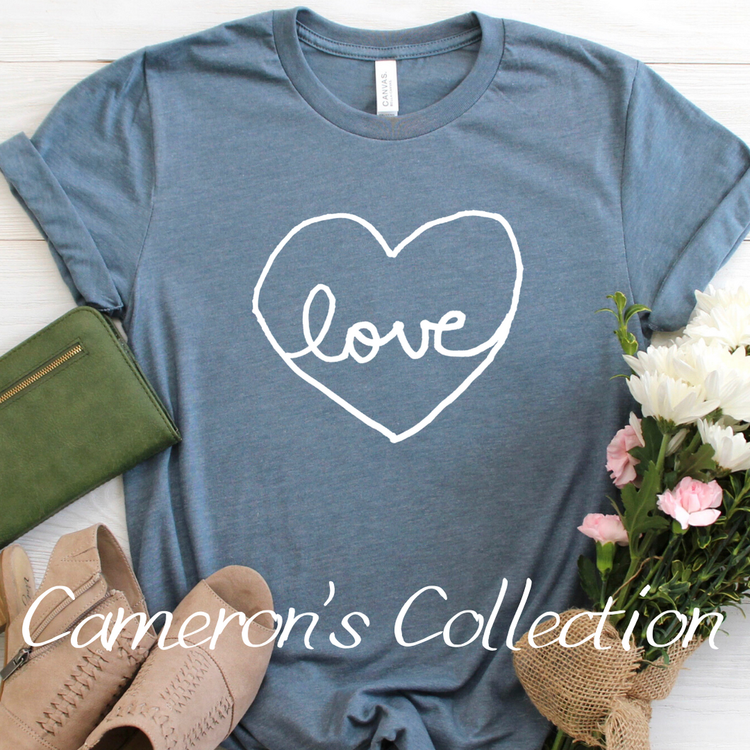 Love heart - Cameron Collection slate