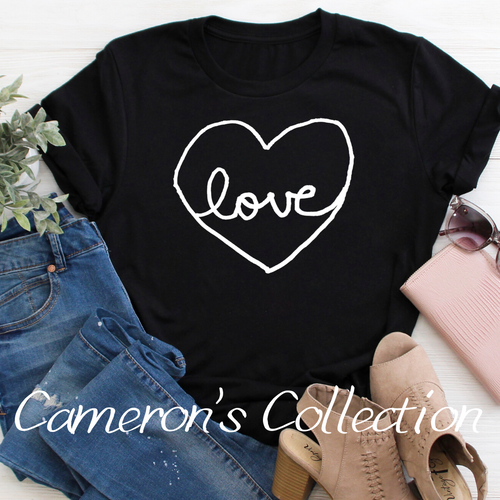 Love heart - Cameron Collection Heather Black