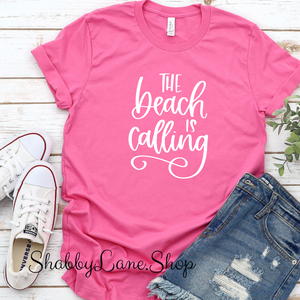 The Beach is Calling - Pink T-shirt