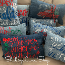 Load image into Gallery viewer, Red Truck Christmas pillow