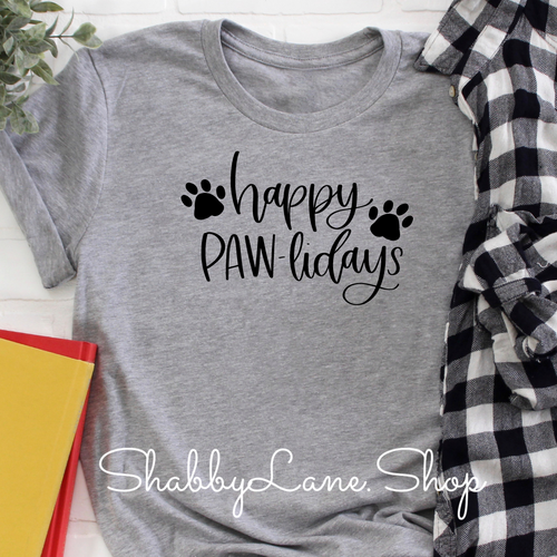 Happy Pawlidays -Gray