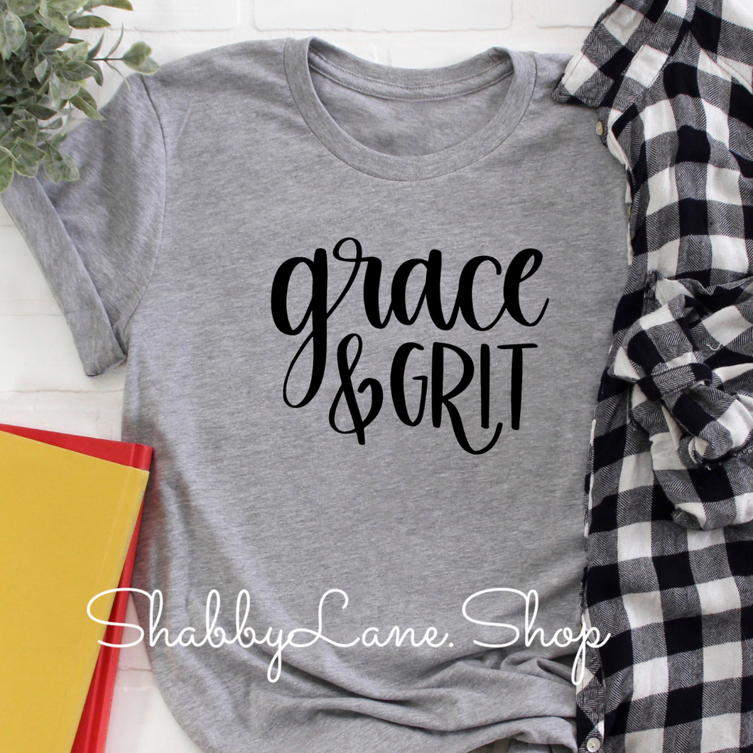 Grace and Grit t-shirt - Light gray