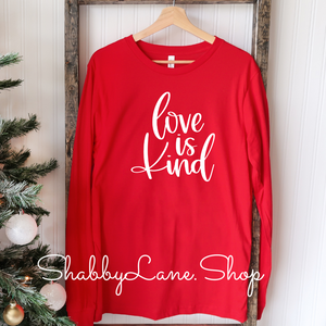 Love is kind - red T-shirt