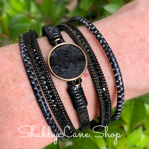 Gorgeous layered bracelet - black 2