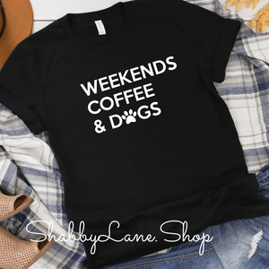 Weekends Coffee and Dogs- Black