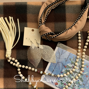 Lovely browns and silver - neck scarf boutique bundle